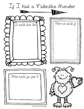 Valentine's Day Monster Writing Activity