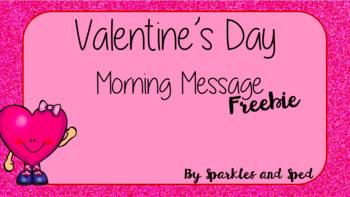 Valentine's Day Morning Message Freebie