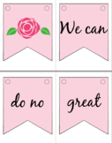 Valentine's Day Mother Theresa Quote Banner/ Pencil Flags