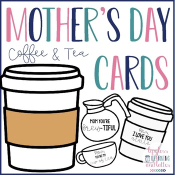 Valentine's Day/ Mother's Day Coffee Themed Craft and Cards For Mom