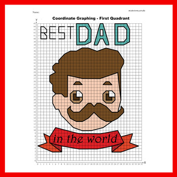 Father's Day Coordinate Graphing Picture: BEST DAD IN THE WORLD