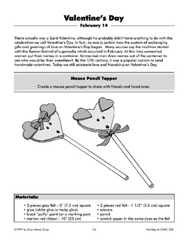 Valentine's Day Mouse Pencil Topper from Hearts