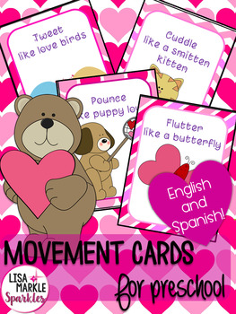 Valentine's Day Movement Cards for Preschool