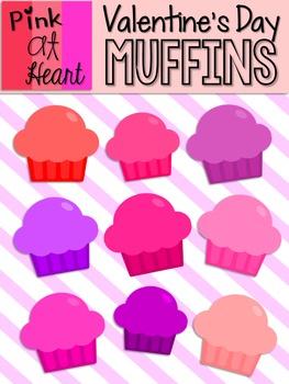 Valentine's Day Muffins Clip Art