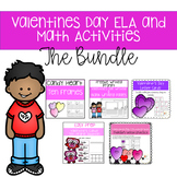 Valentine's Day ELA and Math  Activities (Growing Bundle)