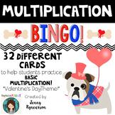 Valentine's Day Multiplication BINGO! 32 Different Cards!