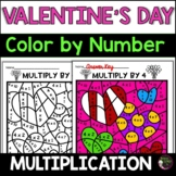 Valentine's Day Multiplication Color by Number- 2's to 12's