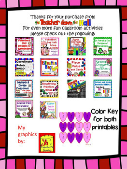 Valentine's Day Multiplication - Color the Product!