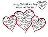 Valentine's Day Multiplication Dice Toss