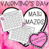 Valentine's Day: Multiplication & Division Mazes