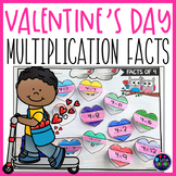 Valentine's Day Multiplication Worksheet for 3rd Grade | F