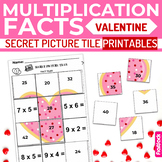 Valentine's Day Multiplication Facts Secret Picture Tile P
