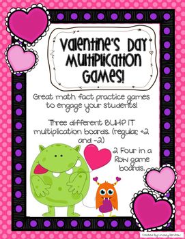 Valentine's Day Multiplication Games