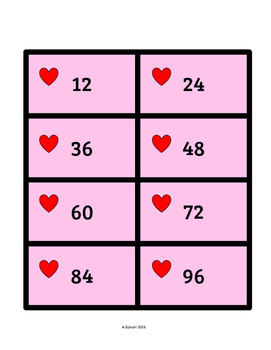 Valentine's Day Multiplication Matching Game {11's & 12's Facts}