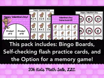 Valentine's Day Multiplication Pack
