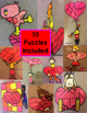Valentine's Day Multiplication Puzzles