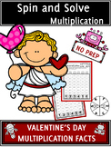 Valentine's Day Activities Multiplication Spin and Solve M