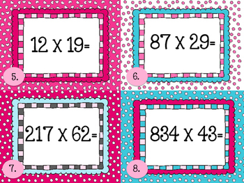 Valentine's Day Multiplication Task Cards