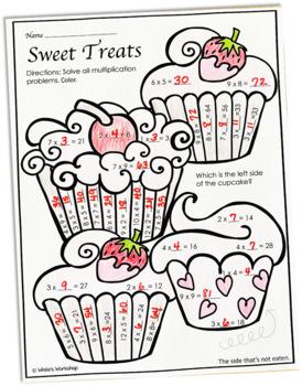 Valentine's Day Multiplication Worksheet FREE