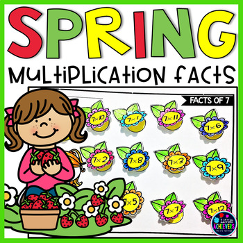 Spring Multiplication Worksheets For Rd Grade  Spring Math Activities