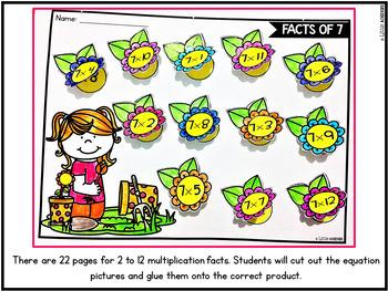 Spring Multiplication Worksheets for 3rd Grade | Spring Math Activities