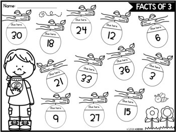 image about Printable Math Games 3rd Grade referred to as Spring Multiplication Worksheets for 3rd Quality Spring Math Functions