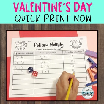 Valentine's Day Multiplication Worksheets | Quick Print Now