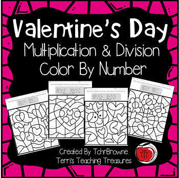 valentine 39 s day multiplication and division color by number by tchrbrowne. Black Bedroom Furniture Sets. Home Design Ideas