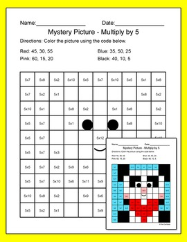 Valentine's Day Math: Multiplication and Division Mystery Pictures