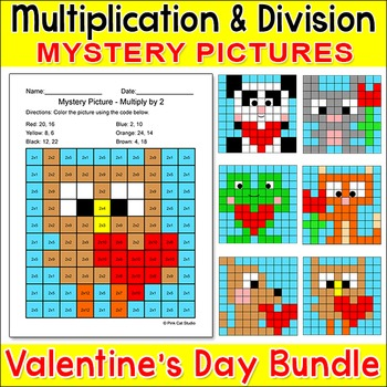 Valentine's Day Math: Multiplication and Division Mystery