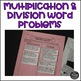 Valentine's Day Multiplication and Division Word Problem Sort