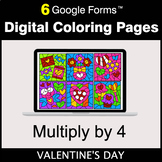 Valentine's Day: Multiply by 4 - Google Forms | Digital Co