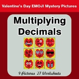 Multiplying Decimals - Color-By-Number Valentine's Math Mystery Pictures