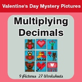 Multiplying Decimals - Color-By-Number Valentine's Math My