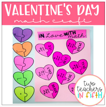Valentine's Day Multiplying Decimals Craftivity/ Task Cards (editable)