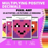 Valentine's Day: Multiplying Decimals Pixel Art Mystery Pictures