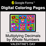 Valentine's Day: Multiplying Decimals by Whole Numbers - D