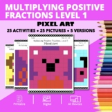 Valentine's Day: Multiplying Fractions #1 Pixel Art Myster