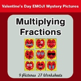 Multiplying Fractions - Color-By-Number Valentine's Math Mystery Pictures