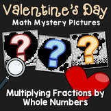 Valentine's Day Multiplying Fractions by Whole Numbers