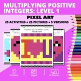 Valentine's Day: Multiplying Integers #1 Pixel Art Mystery
