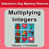 Valentine's Day: Multiplying Integers - Color-By-Number My