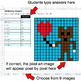 Valentine's Day - Multiplying Integers - Google Sheets Pixel Art