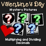 Multiplying And Dividing Decimals Puzzle Coloring, Valentines Day Decimal Packet