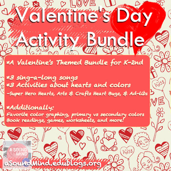 Valentine's Day Music Activity Bundle