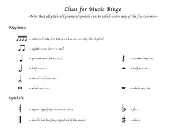 Valentine's Day Music Bingo!