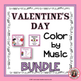 Valentine's Day Music Coloring Pages Bundle