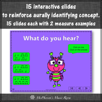 Valentine's Day Music Game: Eighth Notes Interactive + Assessment {Love Bug}