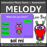 Valentine's Day Music Game: Sol Mi Interactive Melody + Assessment {Love Bug}