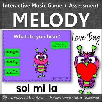 Valentine's Day Music Game: Sol Mi La Interactive Melody + Assessment {Love Bug}